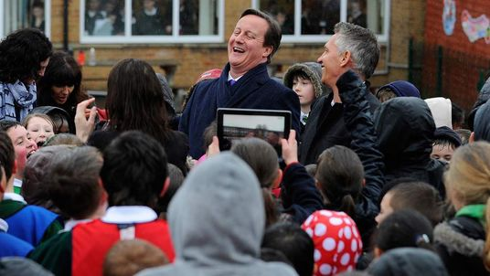 Prime Minister David Cameron And Gary Lineker Support Sport In Schools