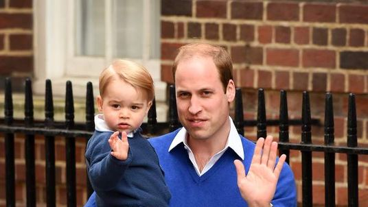 Prince George visits his sister for the first time.