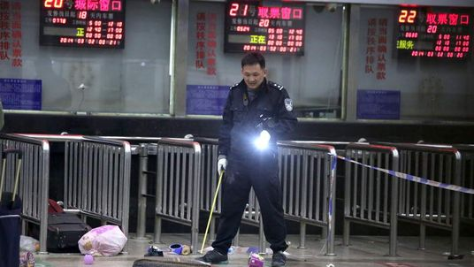 Mass stabbbing at China train station