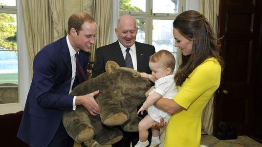 Prince George Given Cuddly Wombat Toy During Australia Trip