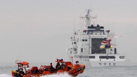 Rescue work continues at the South Korean ferry disaster site.