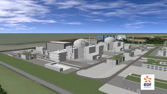 Computer generated image of what Hinkley Point C Nuclear Power Station will look like