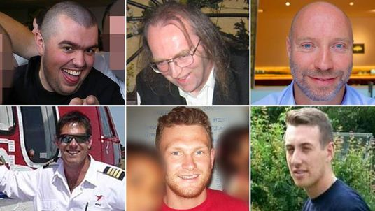 Composite of six of the British victims of MH17