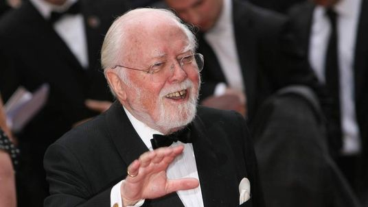 Lord Richard Attenborough attends the Galaxy British Book Awards in 2008.
