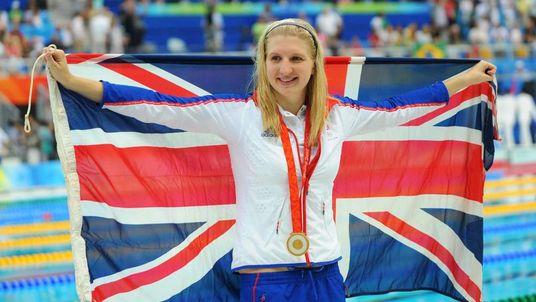 Rebecca Adlington of Great Britain poses