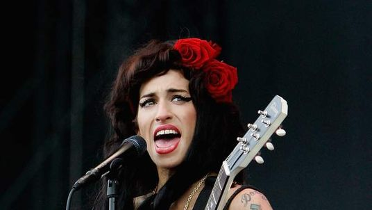 Amy Winehouse At V Festival In 2008