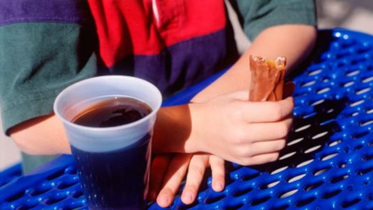 Sugary drinks and chocolate are contributing to obesity among children.