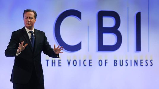 David Cameron at the CBI conference
