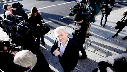Louis Walsh following his defamation case against News Group Newspapers.