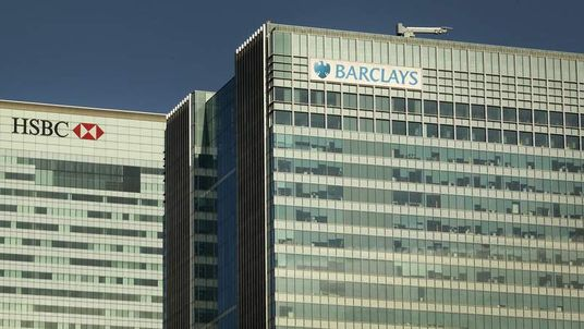 HSBC and Barclays Bank headquarters