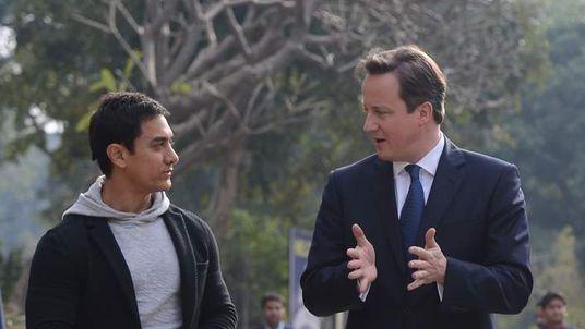 David Cameron in India