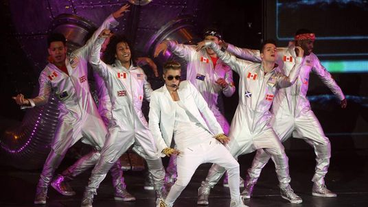 Justin Bieber performs at the O2 in London on Monday, March 4.