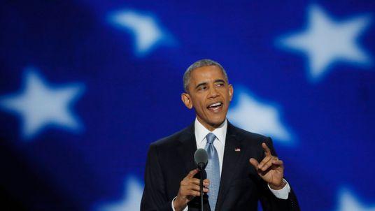 Barack Obama at the 2016 DNC