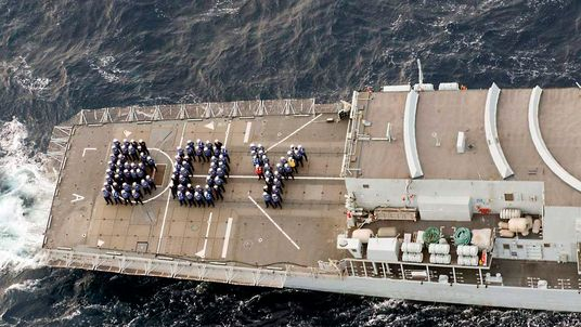 Navy Tributes To New Royal Baby