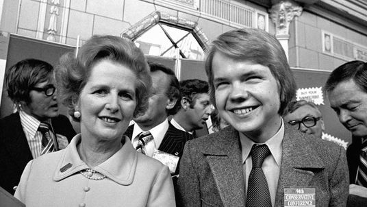 William Hague with Margaret Thatcher in 1977