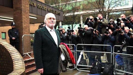 Dave Lee Travis arrives at court