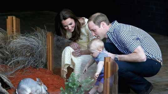 Prince George Meets A Bilby As William And Kate Look On
