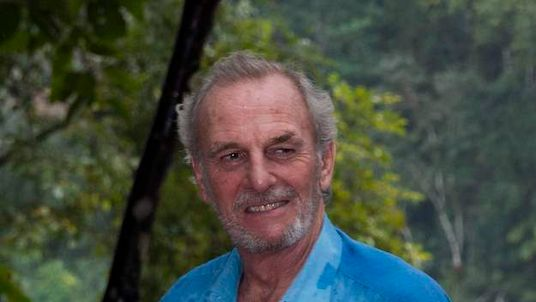 Mark Shand during a visit to the Vazhachal Forest Range, India.