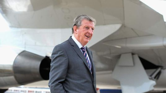 England manager Roy Hodgson at Luton Airport.