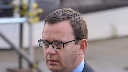 Former News of the World editor Andy Coulson arrives at the Old Bailey in London.