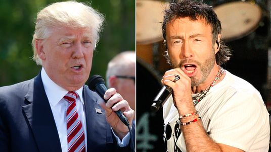 Donald Trump and Paul Rodgers