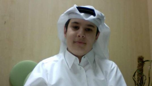 Adam Jones in Arabic dress