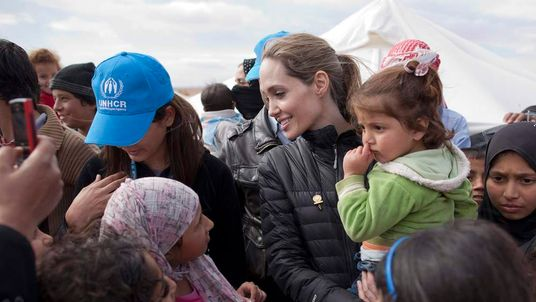 UNHCR Special Envoy Angelina Jolie Visits The Zaatari Refugee Camp In Jordan