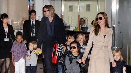Angelina Jolie, Brad Pitt and their six children