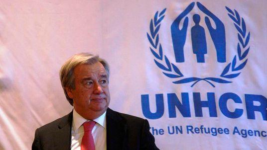 UNHCR Antonio Guterres in Amman, Jordan, last November