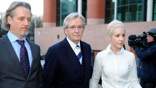 William Roache arrives at court with son Linus and daughter Verity