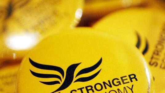 Liberal Democrat merchandise at the Liberal Democrats' autumn conference