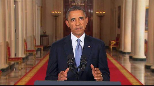 Barack Obama TV Statement On Syria