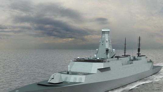 The Type 26 frigates will be constructed on the Clyde. Pic: BAE Systems.