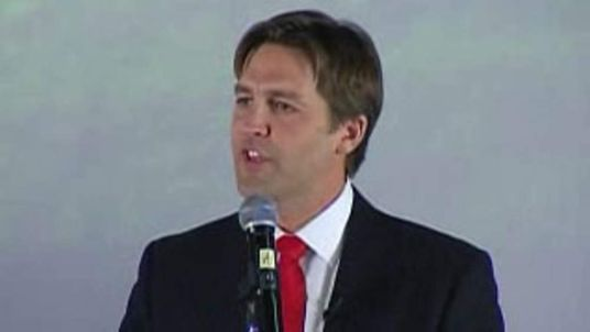 Republican Nebraska Senate nominee Ben Sasse thanks supporters Pic: KOLN-TV