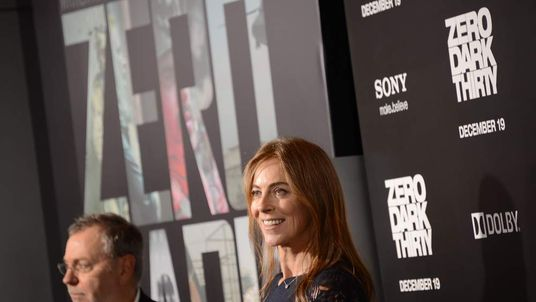 "Director Kathryn Bigelow arrives for the premiere of Columbia Pictures' ""Zero Dark Thirty"""