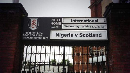 Sign outside Craven Cottage