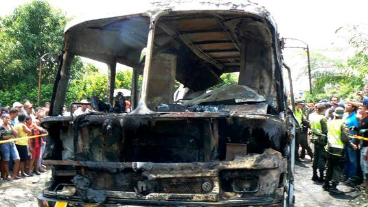 Colombia bus fire