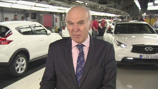 Vince Cable At Nissan Plant