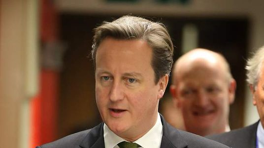 Prime Minister David Cameron visits the Cancer Research UK Cambridge Research Institute