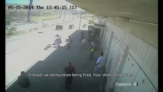 Shooting of two Palestinian youths caught on CCTV