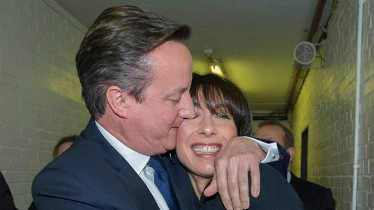David Cameron tweeted this picture with the caption 'Here's to a brighter future for everyone.'