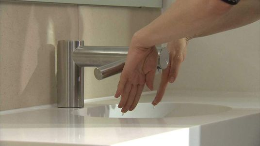The new Dyson combined tap and drier