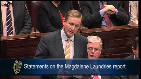 Irish prime minister Enda Kenny makes statement on the Magdalene Laundries