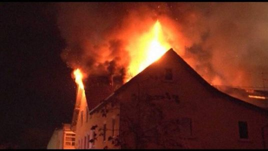 Fire at apartment building in Backnang near Stuttgart, Germany