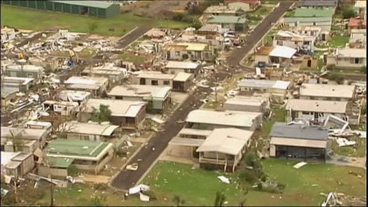 Aftermath of tornado at Mulwala, New South Wales, Australia