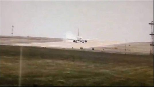 The landing at Leeds Bradford Airport