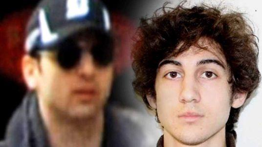 Boston bomb suspects Tamerlan Tsarnaev (L) Dzhokhar A Tsarnaev (R)