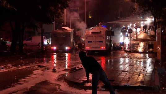 Rioting in Ankara, Turkey