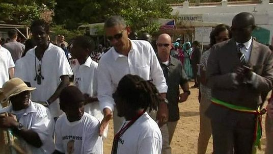 President Obama meets locals during visit to Senegal