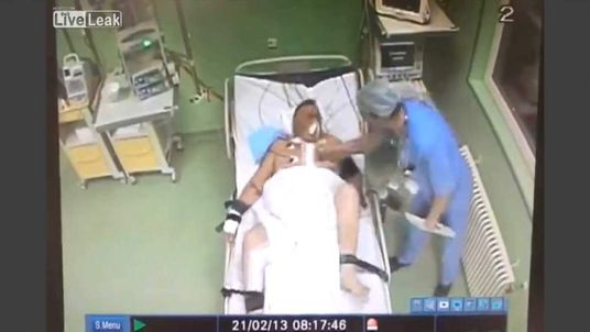 Doctor punches heart patient in the chest
